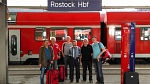 Ankunft am Rostocker Hauptbahnhof