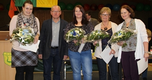 JHV 2015 Kreisehrennadel für Lena, Tanja, Beate, Diana