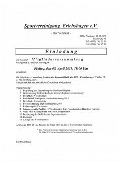 JHV©Sportvereinigung Erichshagen